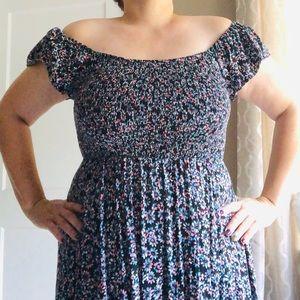 Torrid Stretchy-Top, Off-Shoulder Dress - 10-16W